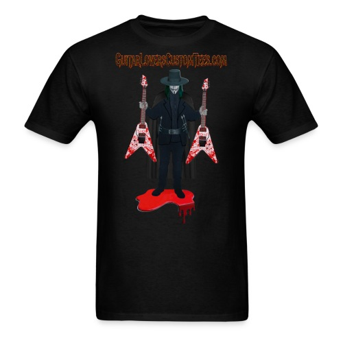Vendetta by GuitarLoversCustomTees png - Men's T-Shirt