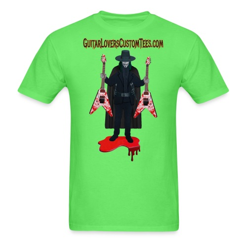 Vendetta by GuitarLoversCustomTees png - Men's T-Shirt