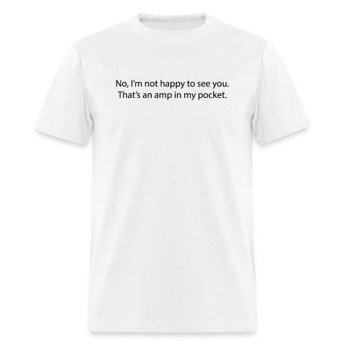 amp pocket black - Men's T-Shirt