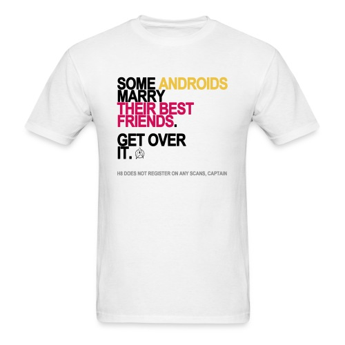 some androids marry bffs lg transparent - Men's T-Shirt