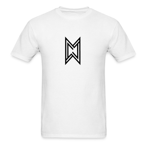 Black Logo White T-Shirt - Men's T-Shirt