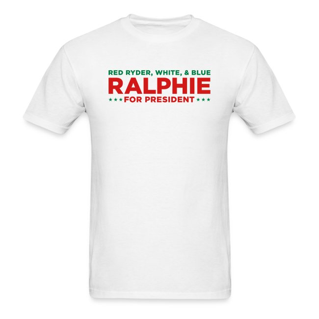 Christmas Story T Shirts.Ralphie For Presdient Red Ryder Christmas Story Men S T Shirt