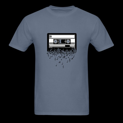 Music Notes Cassette Tape - Men's T-Shirt