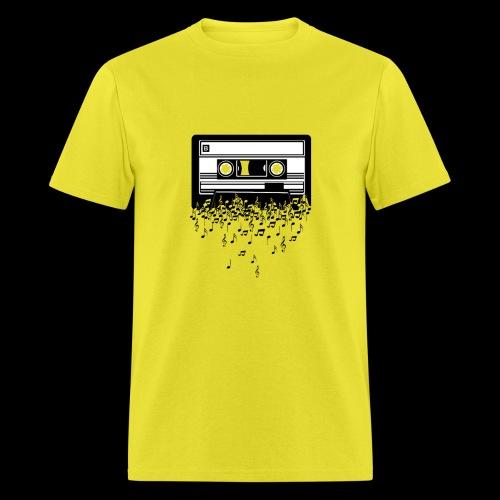 Music Notes Cassette Tape - Men's T-Shirt
