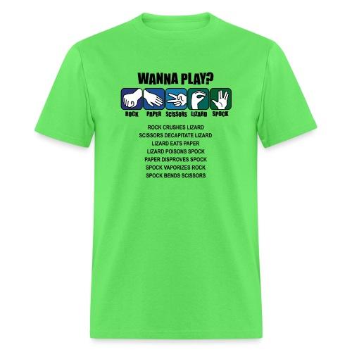 rock paper scissors lizard spock shirt - Men's T-Shirt