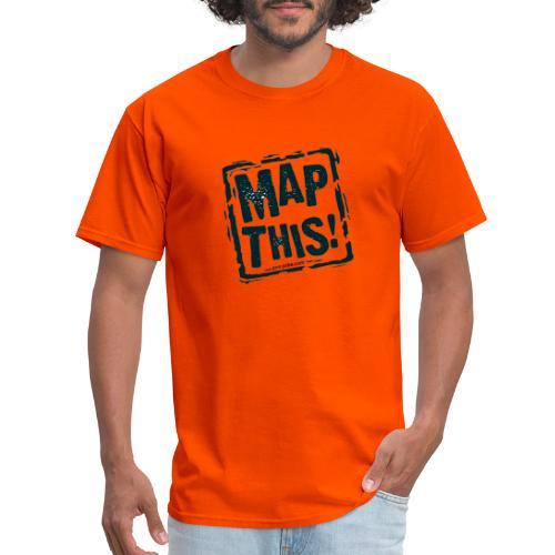 MapThis! Black Stamp Logo - Men's T-Shirt