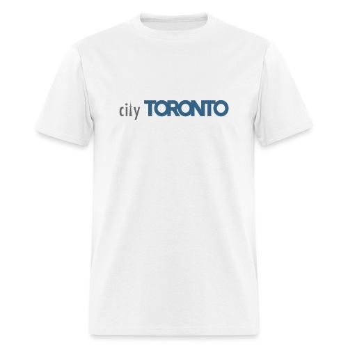 cityTorontoLogoNEW.png - Men's T-Shirt