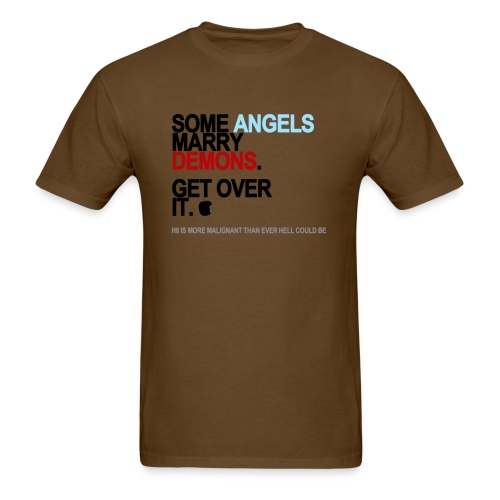some angels marry demons lg transparent - Men's T-Shirt