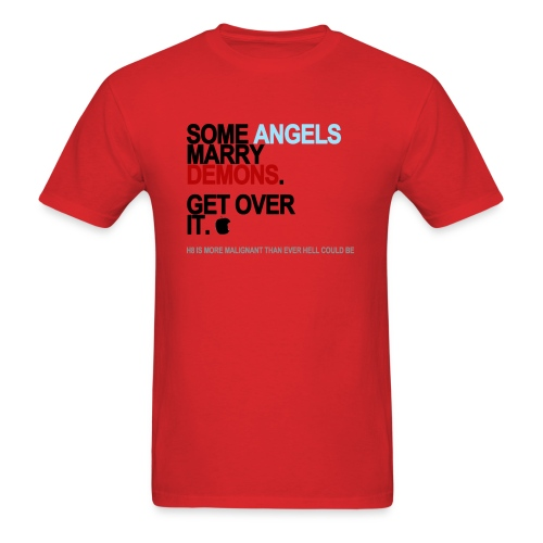 some angels marry demons lg transparent - Men's T-Shirt