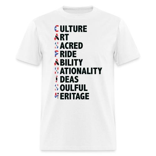 Caspanish 3-flag Acronym - Men's T-Shirt