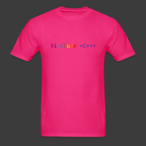 Rainbow Include C++ (Light Background) - Men's T-Shirt