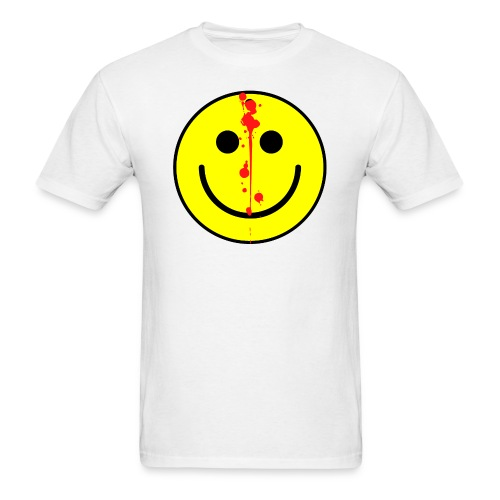 Emoticon with a Bullet In The Head - Men's T-Shirt