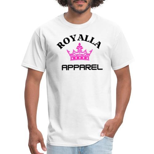 Royalla Apparel Black with Pink Logo - Men's T-Shirt