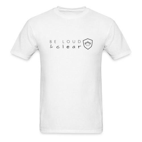 loud and clear transparent - Men's T-Shirt