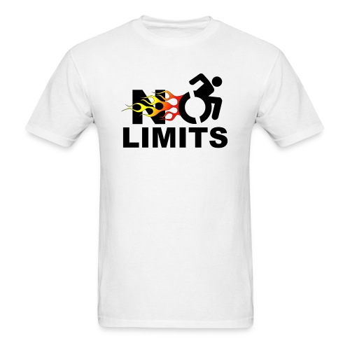 No limits for me with my wheelchair - Men's T-Shirt