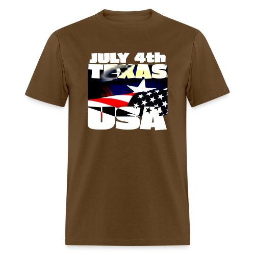 July 4th Texas USA - Men's T-Shirt