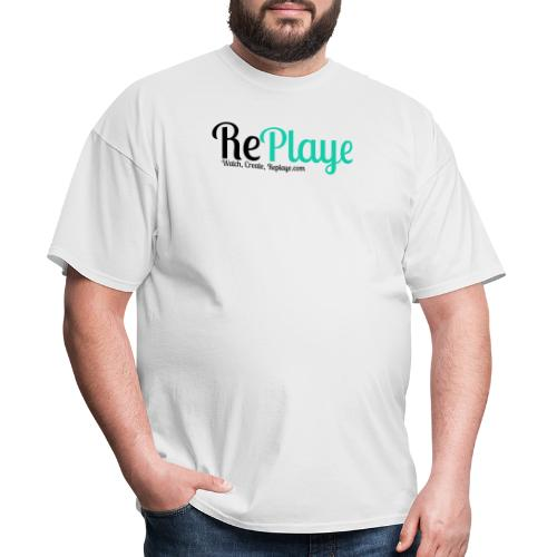 Replaye Black on White - Men's T-Shirt
