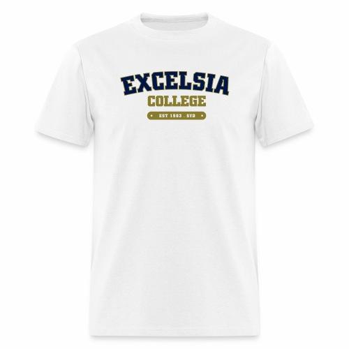 Merchandise logo artwork outlines blue - Men's T-Shirt