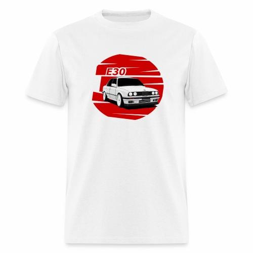 Bimmer e30 red background - Men's T-Shirt