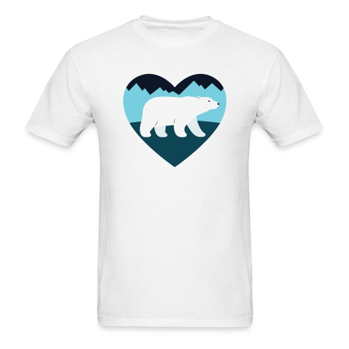 Polar Bear Love - Men's T-Shirt