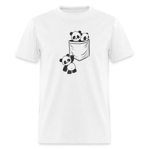 For Panda Lovers Cute Kawaii Baby Pandas In Pocket - Men's T-Shirt