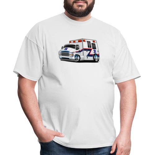 Paramedic EMT Ambulance Rescue Truck Cartoon - Men's T-Shirt