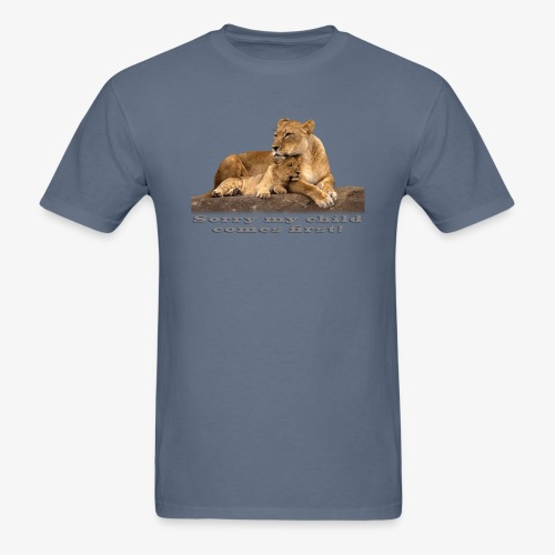 Lion-My child comes first - Men's T-Shirt