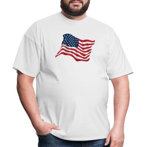American Pride USA Flag Waving - Men's T-Shirt