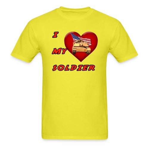I Heart my Soldier - Men's T-Shirt