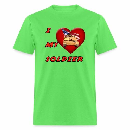 I Heart my Soldier - Men's T-Shirt