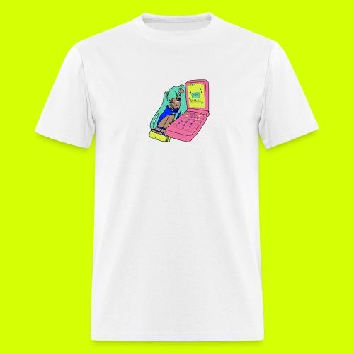 flip phone girl - Men's T-Shirt