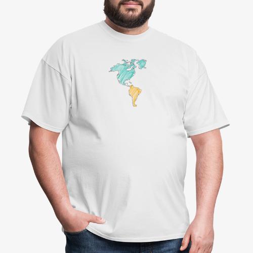 Pencil Crayon Map - Men's T-Shirt