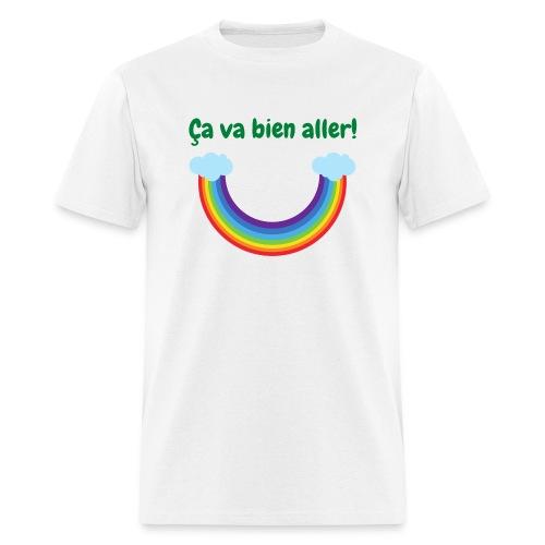 Ca va bien aller! (arc-en-ciel à l'envers) - Men's T-Shirt
