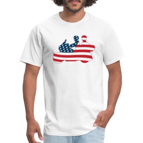 usa biker couple clr Tsmall - Men's T-Shirt