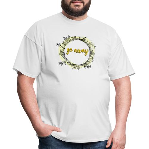 T-Shirt For Introverts - Go Away - Floral Wreth - Men's T-Shirt