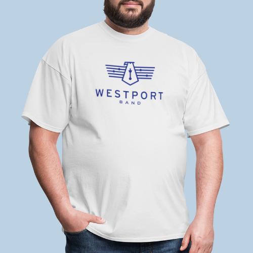 Westport Band Blue on transparent - Men's T-Shirt