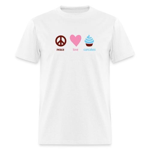 peacelovecupcakes pixel - Men's T-Shirt