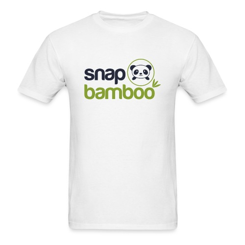 Snap Bamboo Square Logo Branded - Men's T-Shirt