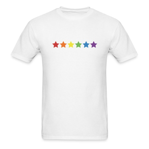 Pride Rainbow Stars - Men's T-Shirt
