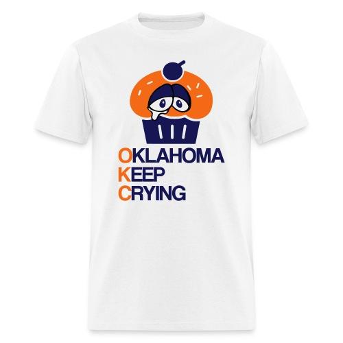 OKC Cupcake Crying - Men's T-Shirt