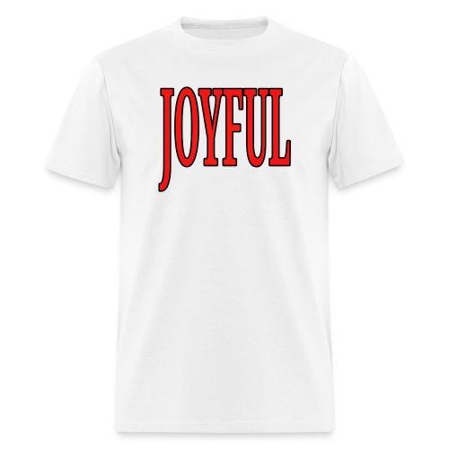 Dave The Cat Big Word Tee! Joyful! - Men's T-Shirt