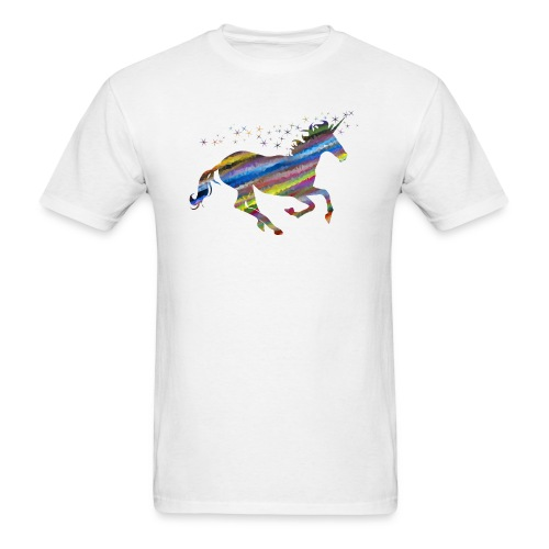 The Majestic Prismatic Streaked Magical Unicorn - Men's T-Shirt