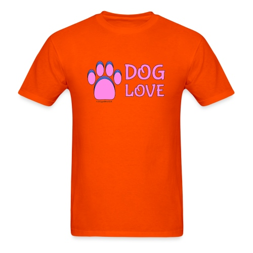 Pink Dog paw print Dog Love - Men's T-Shirt