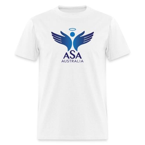 3459 Angelman Logo AUSTRALIA FA CMYK - Men's T-Shirt