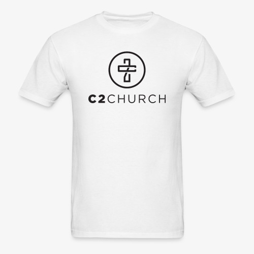 C2 Church Merch with Name (Black) - Men's T-Shirt
