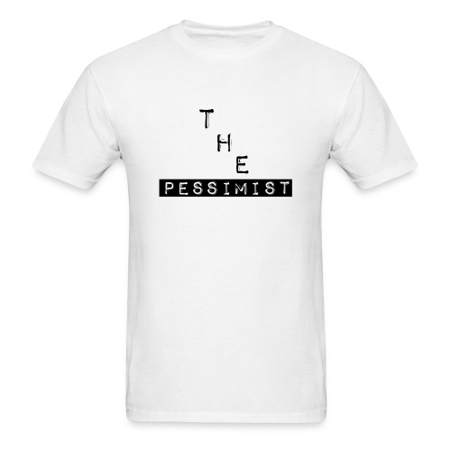 The Pessimist Abstract Design - Men's T-Shirt