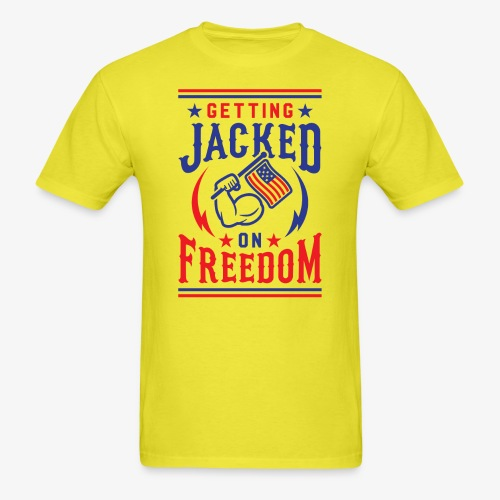 Getting Jacked On Freedom - Men's T-Shirt