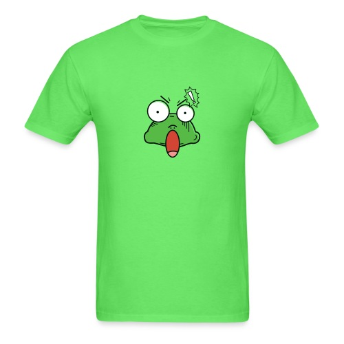 Frog with amazed face expression - Men's T-Shirt