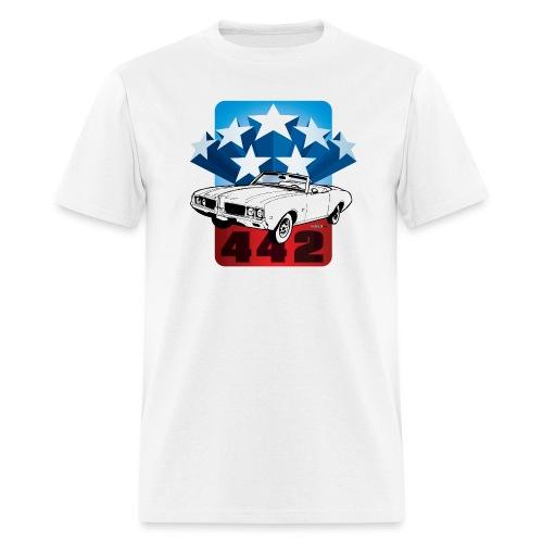 auto_oldsmobile_442_001 - Men's T-Shirt