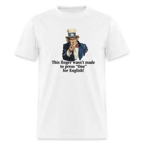 Uncle Sam - Finger - Men's T-Shirt